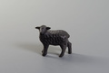 Artisan black wooden standing sheep by Rustan Olsson