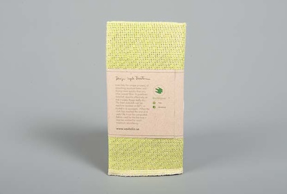 Lime green linen dishcloth from Växbo lin