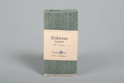 Moss green linen dishcloth from Växbo lin