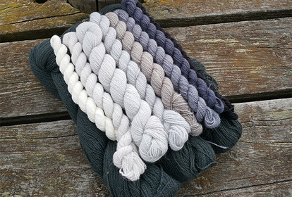 The Gray Mist, pullover or cardigan, knitting kit