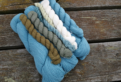 The Blue One, pullover or cardigan, knitting kit