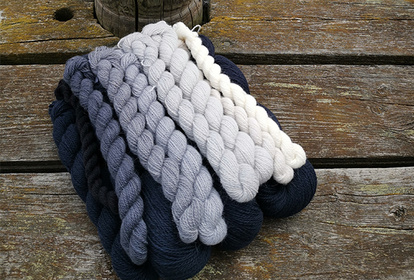 The Blue Mist, pullover or cardigan, knitting kit