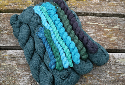The Forest Darkness Green, pullover or cardigan, knitting kit