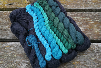 The Forest Darkness Black, pullover or cardigan, knitting kit