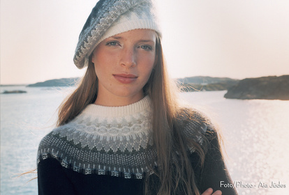 The Large Lace Collar, pullover, knitting kit