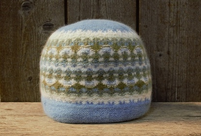 The Blue One, hat, knitting kit