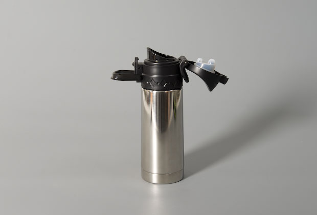 Thermos flask in silver